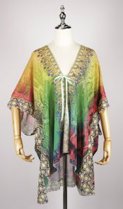 FOK1038 kaftan dress digital printing