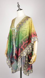 FOK1038 kaftan dress digital printing side