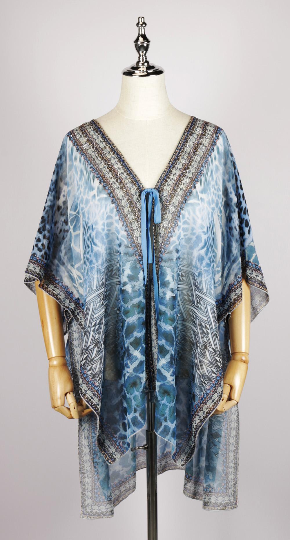 FOK1329 gorgeous print kimono