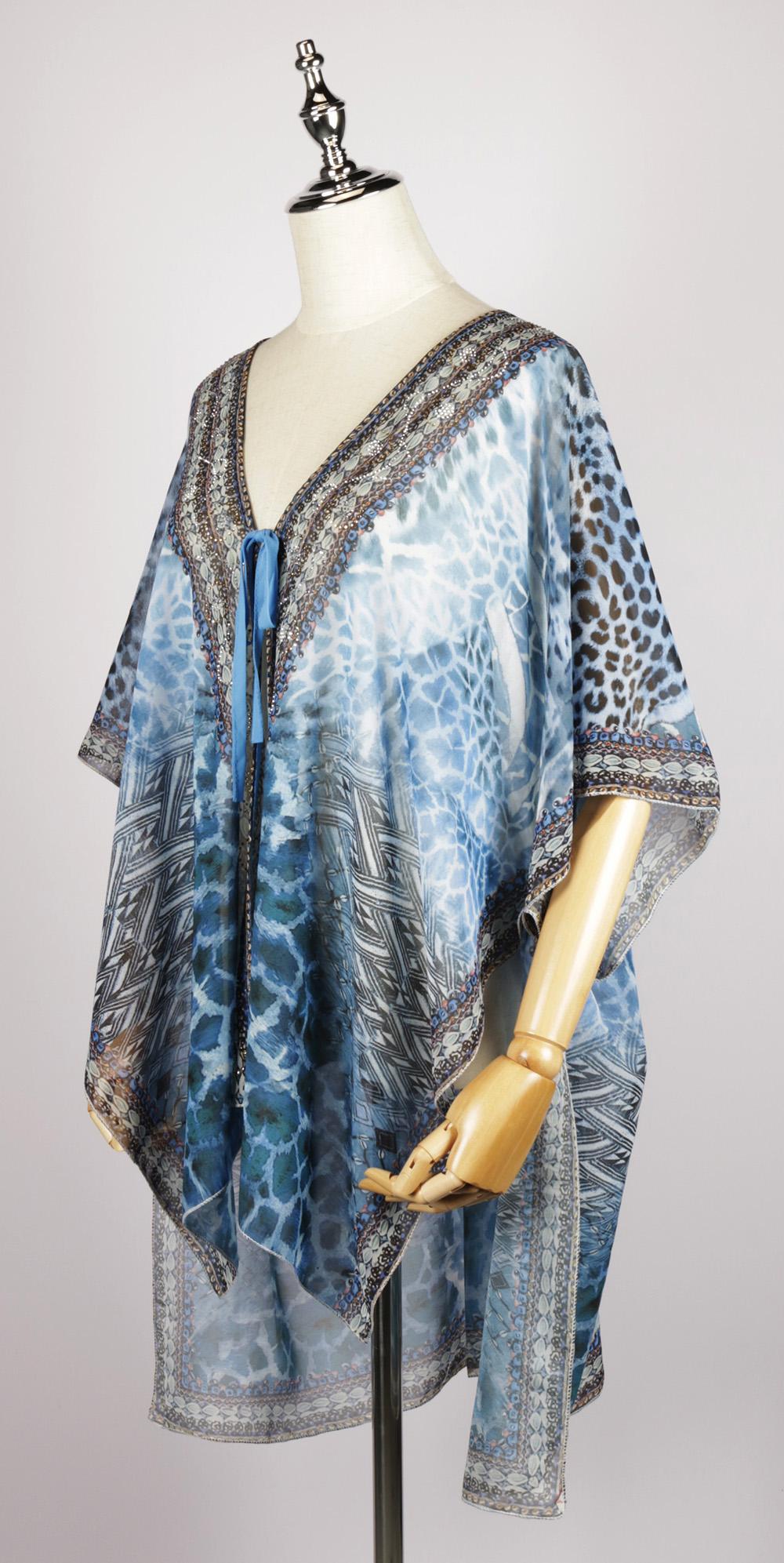 FOK1329 gorgeous print kimono side