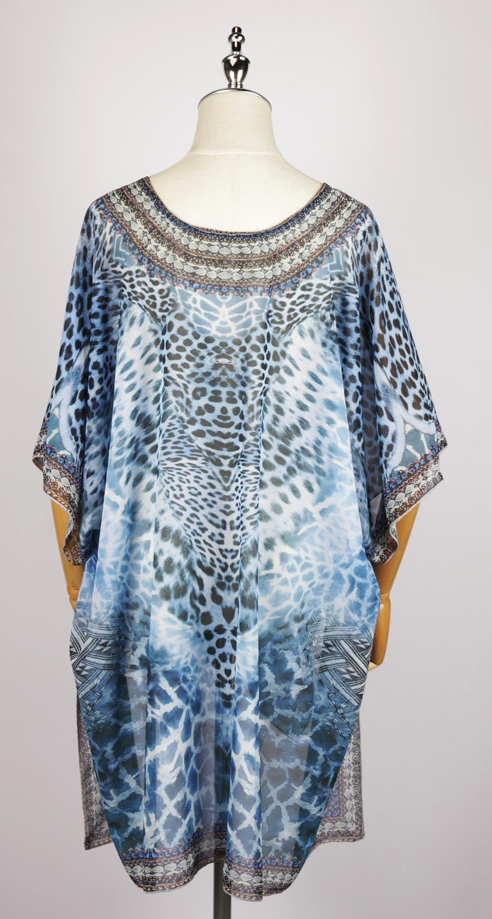 FOK1329 gorgeous print kimono back