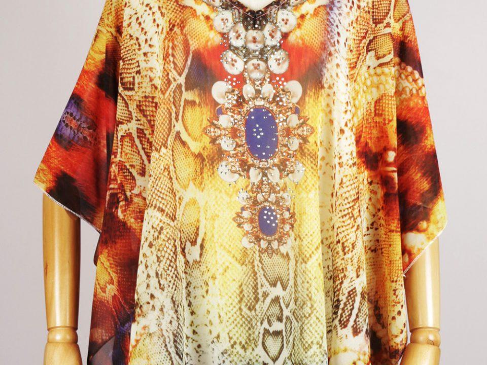 SKF1336 short kaftan dress