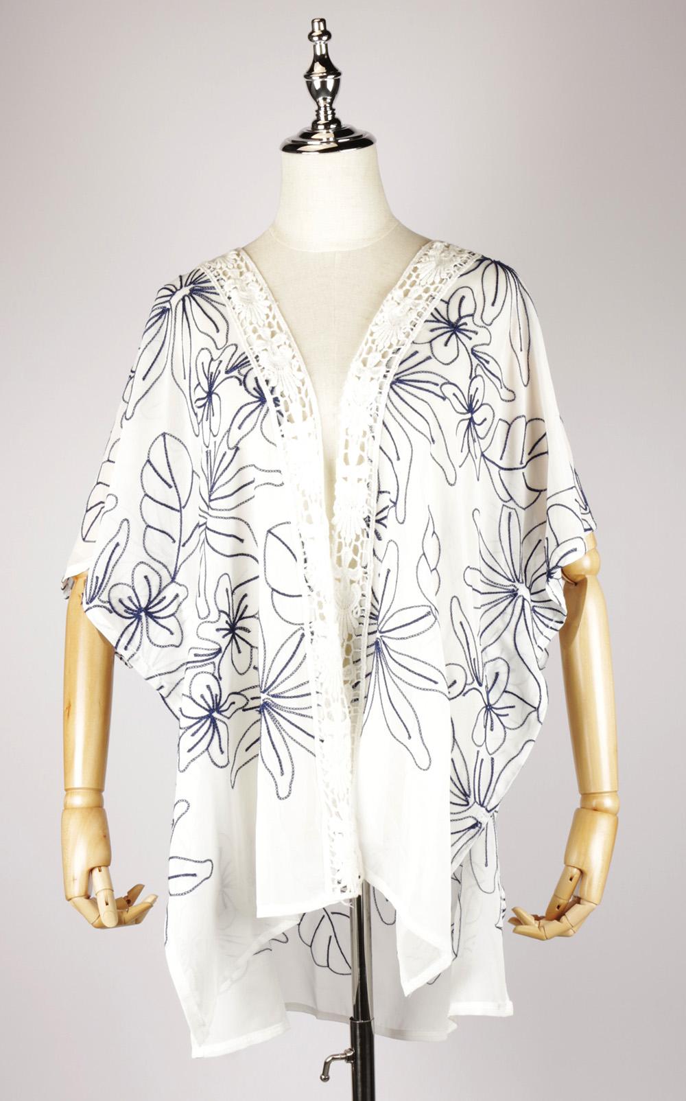CEK1541 embroidered kimono