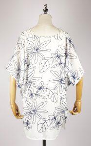 CEK1541 embroidered kimono back