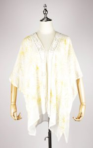 CEK1560 Embroidery kaftan yellow