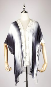 TDK1624 Tie-dye kaftan dress