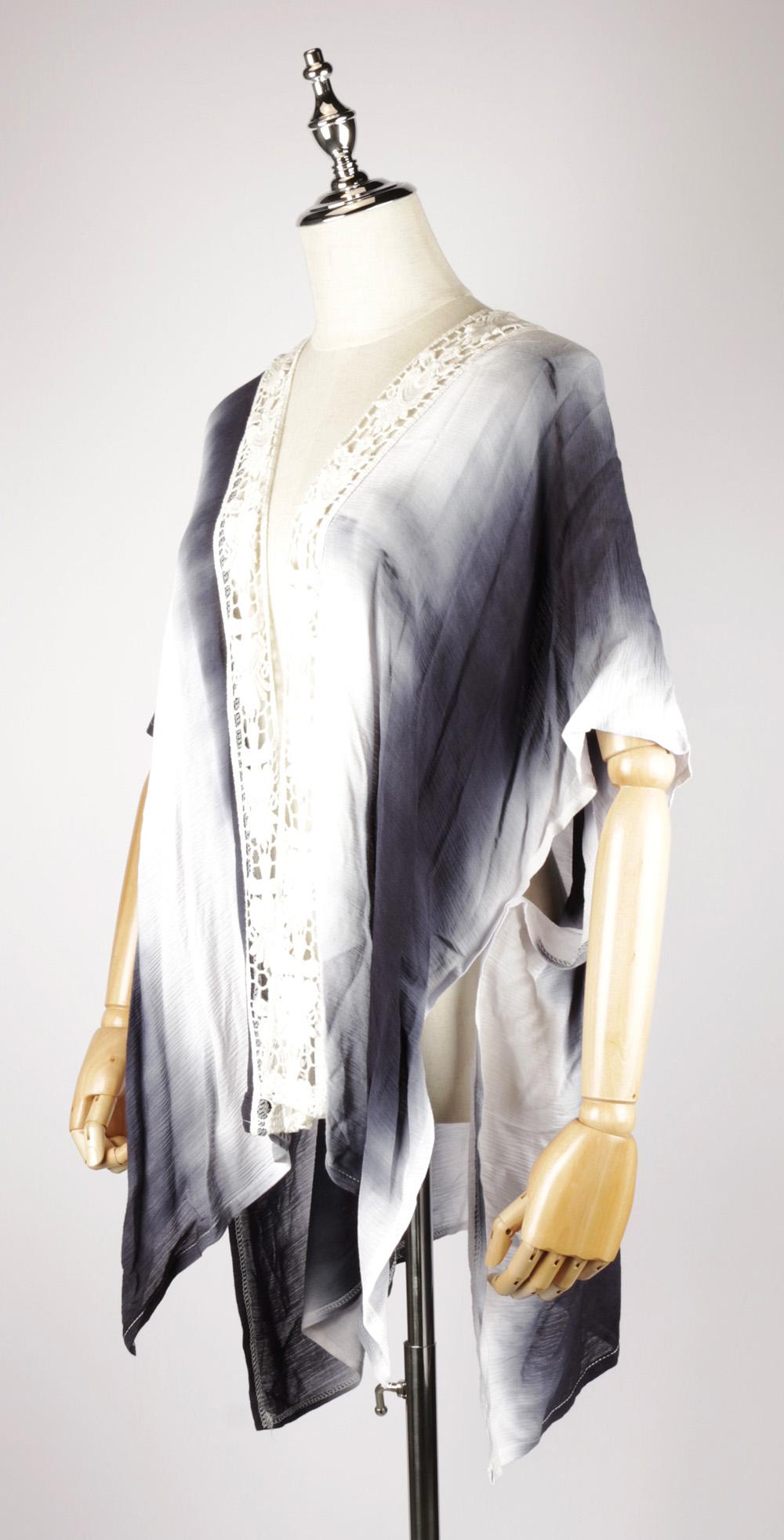 TDK1624 Tie-dye kaftan dress side