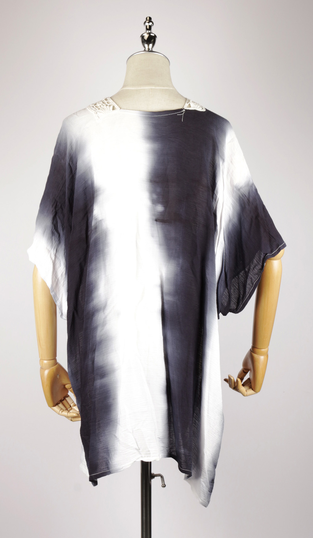 TDK1624 Tie-dye kaftan dress back