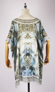 SKF1782 kaftan dress back