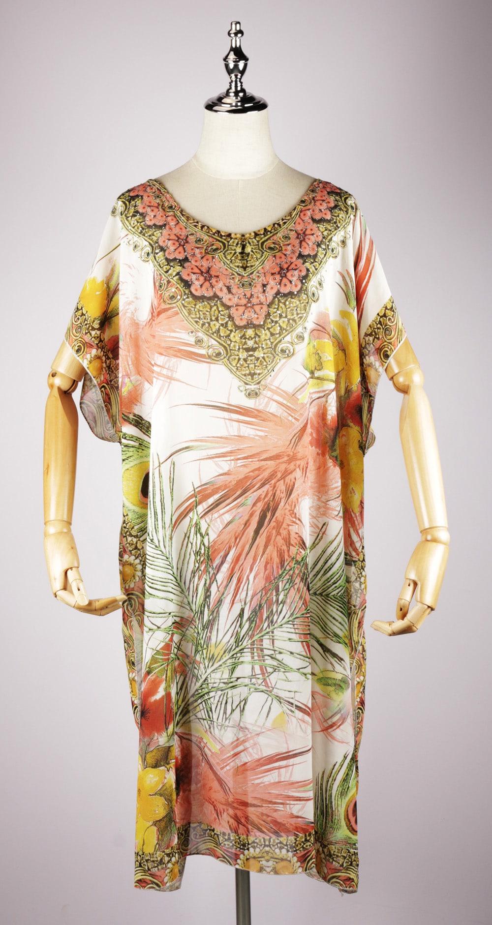 LKF2035 maxi kaftan dress