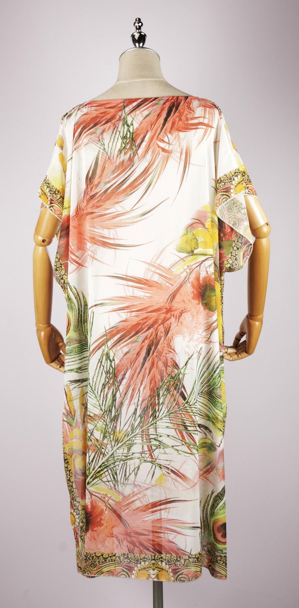LKF2035 back maxi kaftan dress