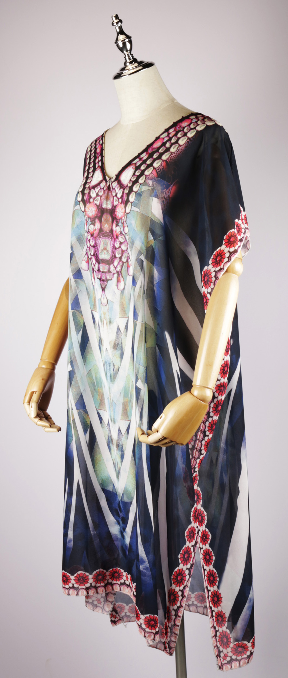 LKF2084 side,kaftan dresses