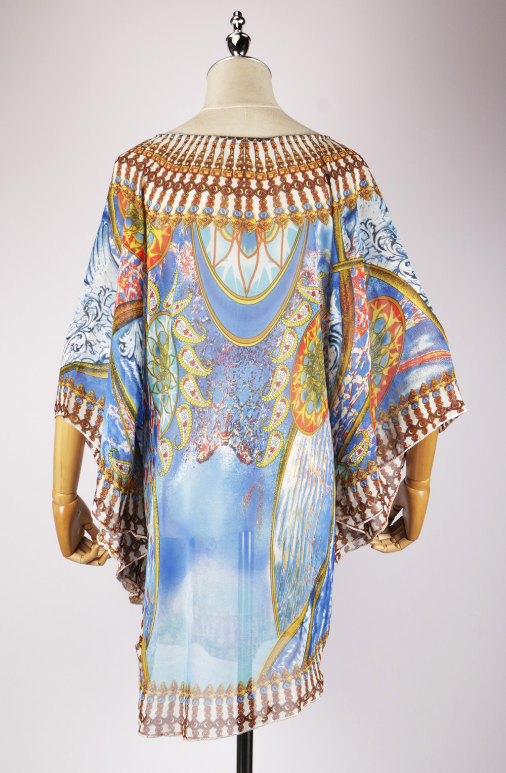 DSG2293 back,cotton kaftan dress