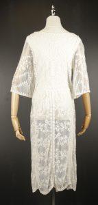 LLC0708 embroidery chiffon outfit back