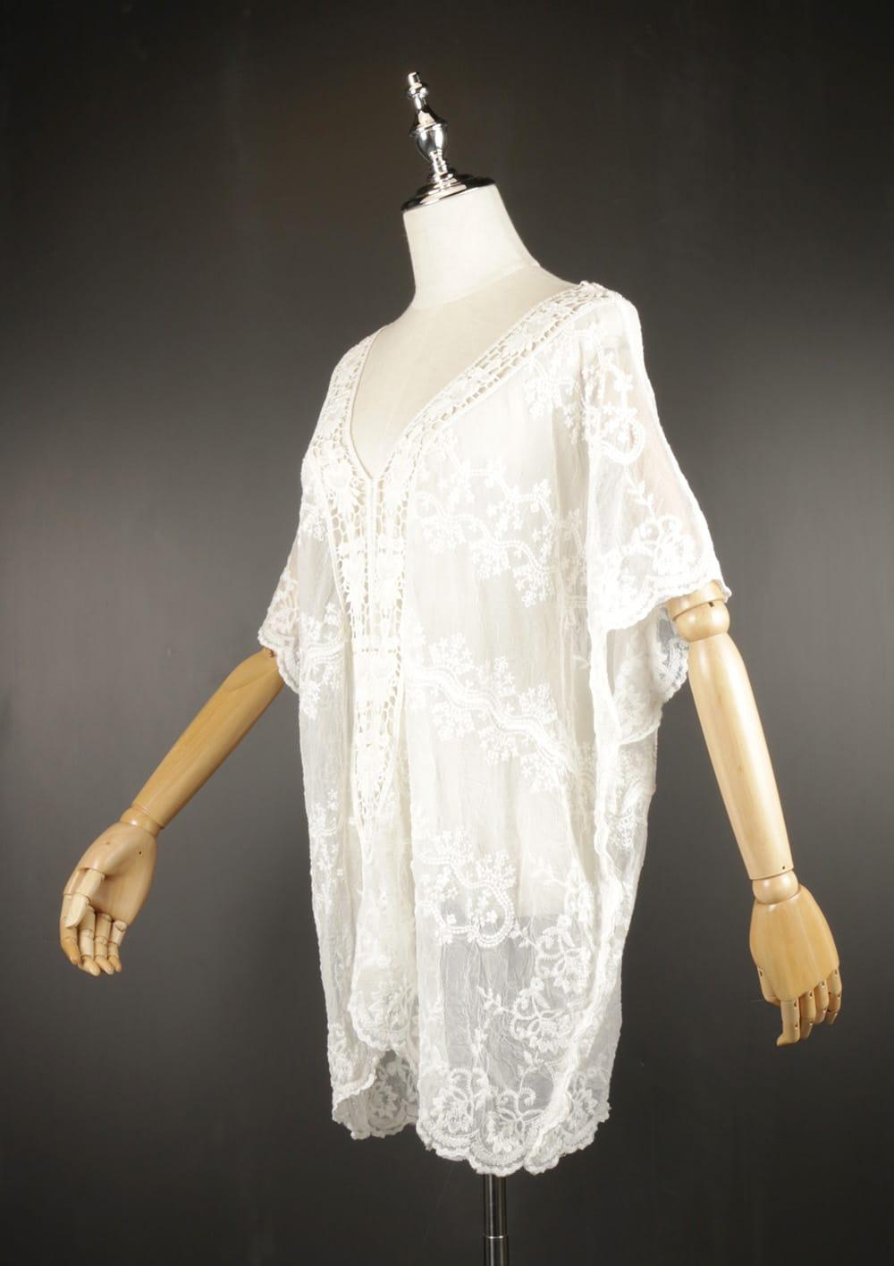 LSK0799 lace pullover kimono side