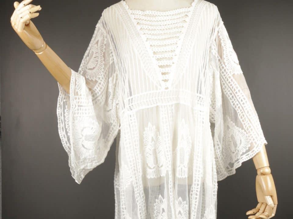 LSK0803 Short lace kimono