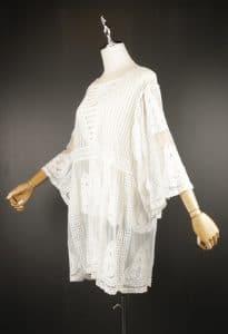 LSK0803 Short lace kimono side