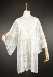 LSK0806 white Short lace kimono