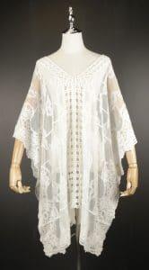 LSK0809 Lace pullover Kimono