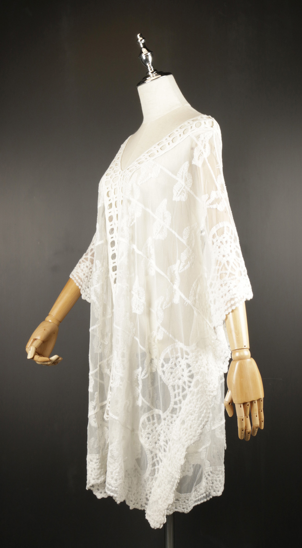 LSK0809 Lace pullover Kimono side