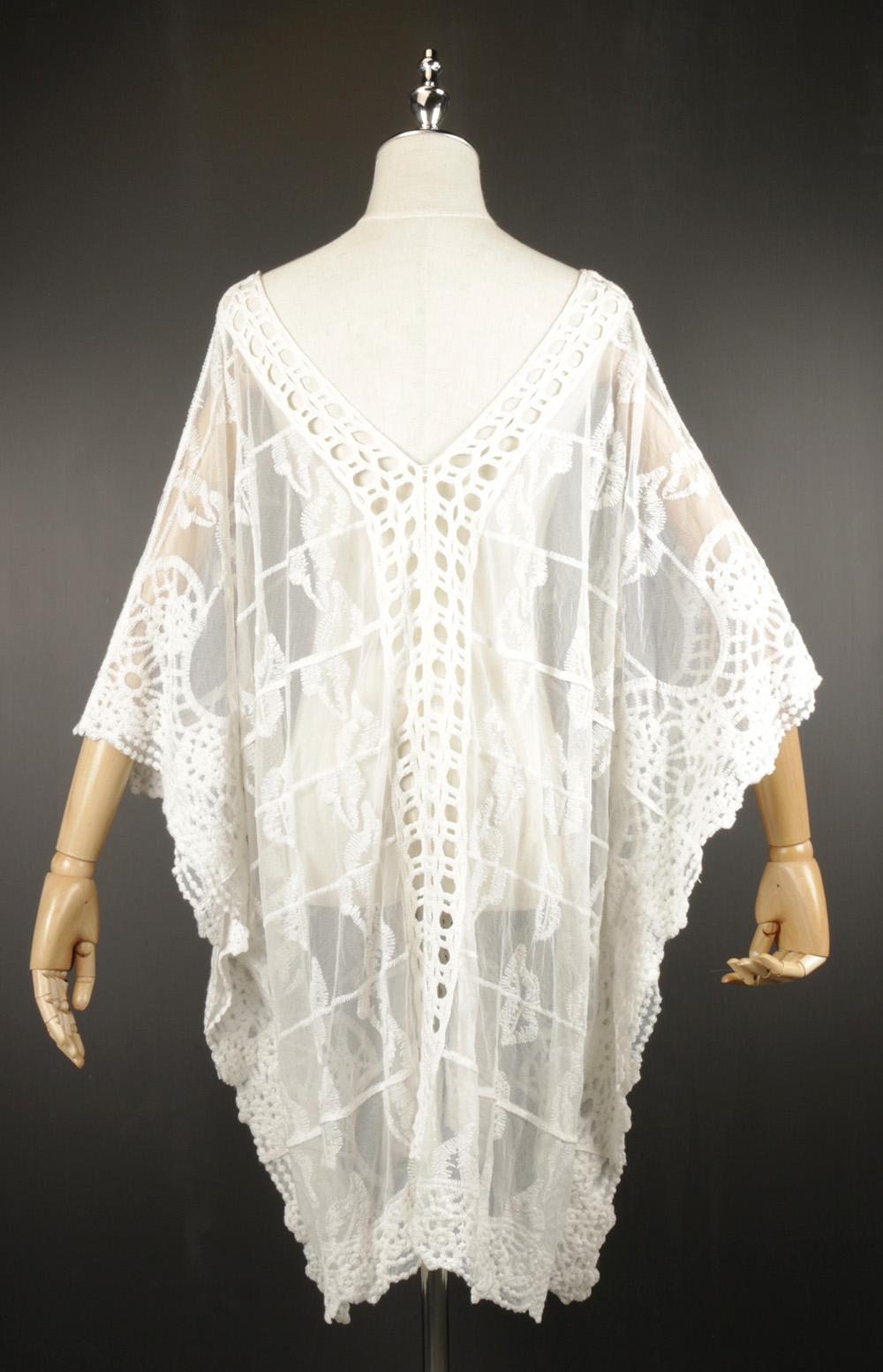 LSK0809 Lace pullover Kimono back