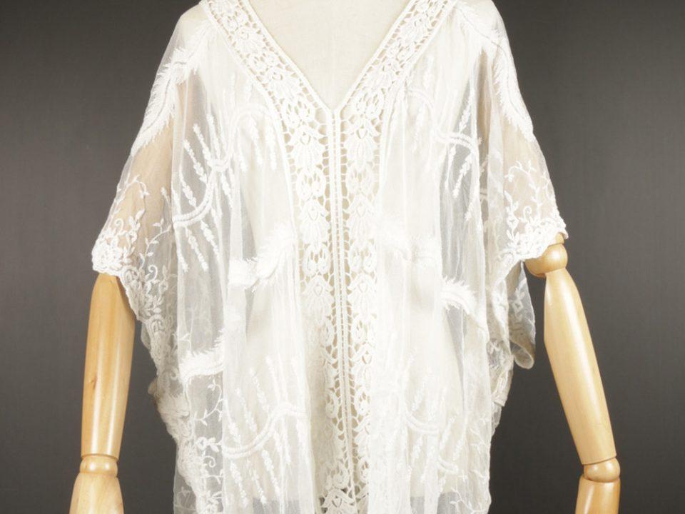LSK0812 Lace pullover Kimono
