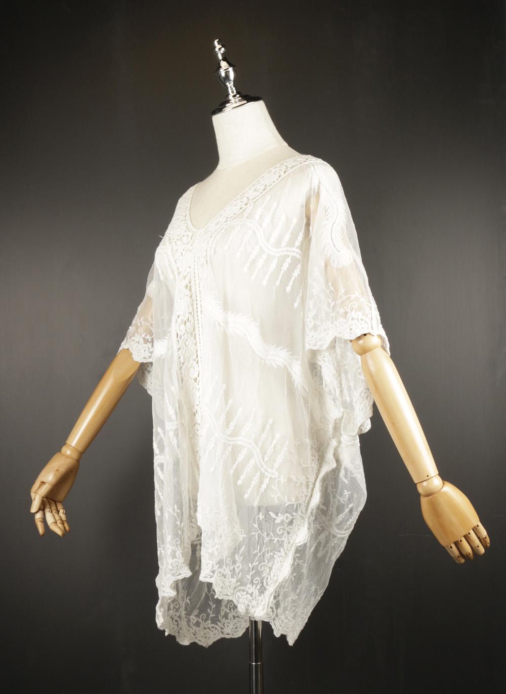 LSK0812 Lace pullover Kimono side
