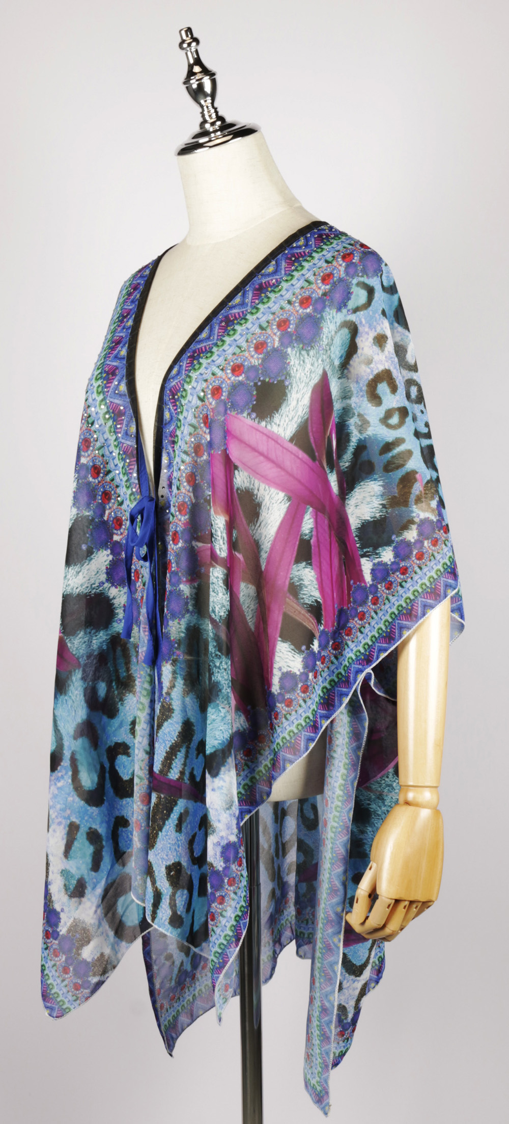 FOK1481 Front-open Kaftan side