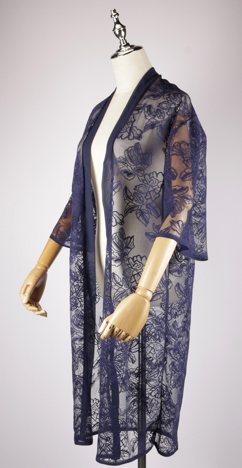LEK2144 Lace Embroidery Kimono side