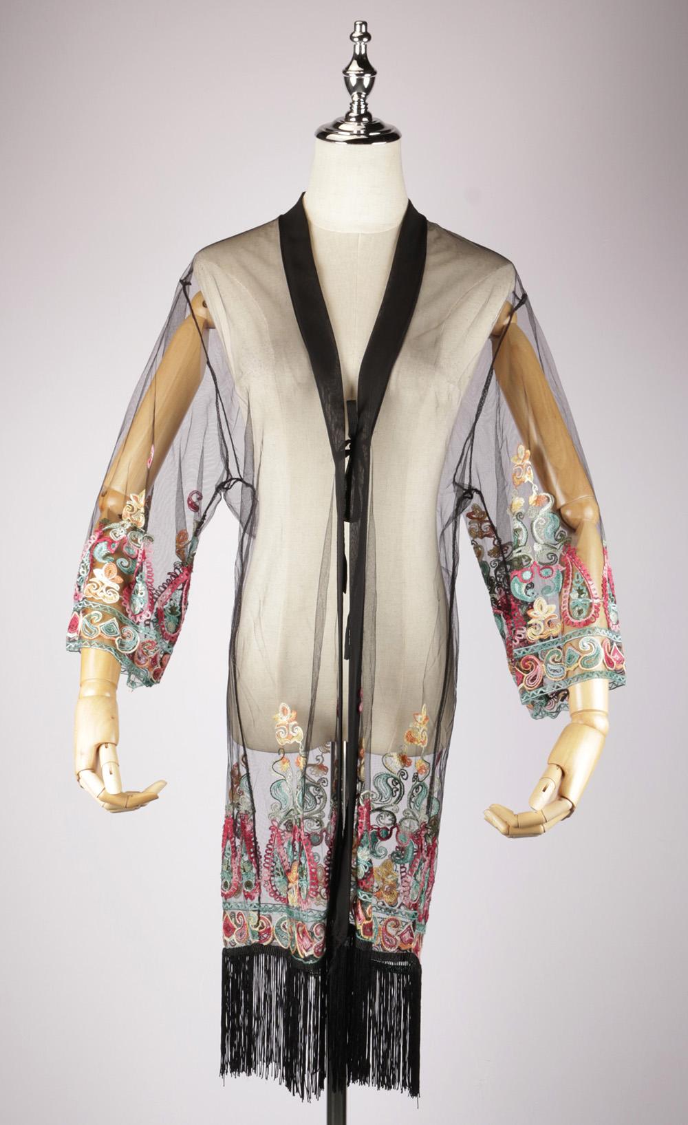 LEK2317 embroidered kimono