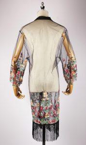 LEK2317 embroidered kimono back