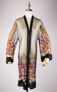 LEK2323 embroidered kimono gold